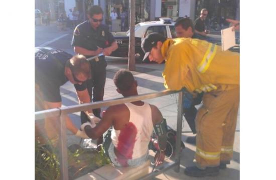A 19-year-old was stabbed in Downtown Santa Monica on Monday