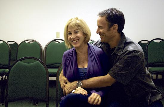 "Married couple Joanne Baron and D.W. Brown share a laugh in one of the rooms where their acting classes take place. ""In this room"
