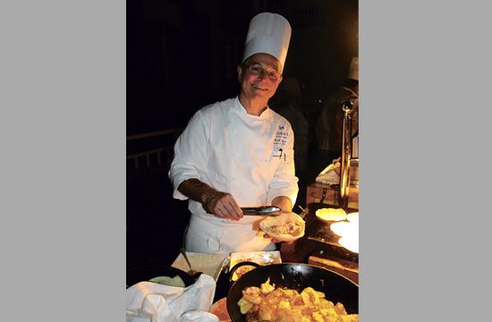 Executive Chef Keith Roberts serves up fish tacos.