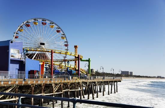 There are up to nine vendor cart locations with a license term of one year on the Santa Monica Pier.