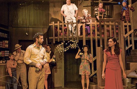 Joe McGovern (far left) as Doc and Lela Loren (far right) as Suzy