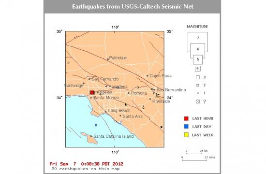 The preliminary 3.4 earthquake struck Beverly Hills at 12:03 a.m. Friday
