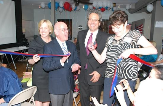 The ribbon cutting ceremony for the PPDC Westside Democratic HQ grand opening was held Thursday