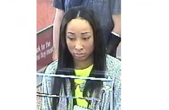 Santa Monica police investigators are asking for the public's assistance in identifying this female believed to be cashing forged checks in the city.