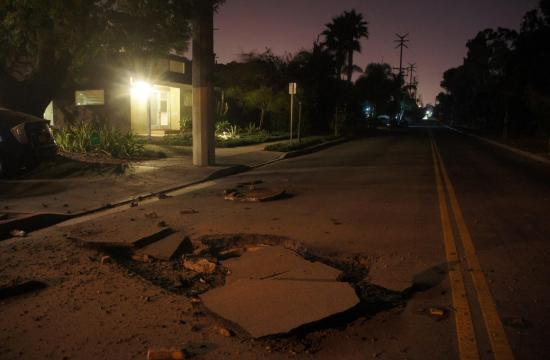 The manhole exploded at 1709 Dewey Street in Santa Monica at about 4:30 a.m. this morning