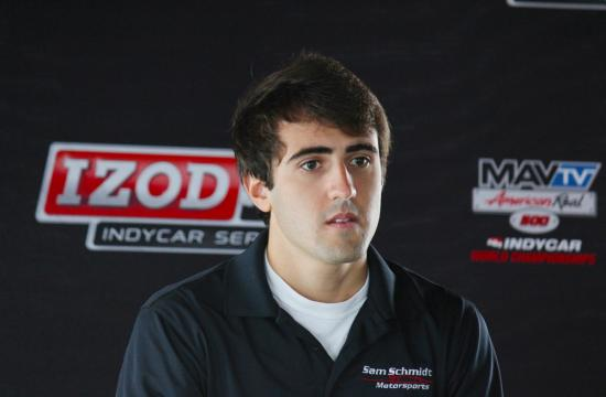 Tristan Vautier of France placed first overall in the Firestone IndyCup Light series open-wheel racing event that concluded on the Auto Club Speedway in Fontana Saturday Sept. 15