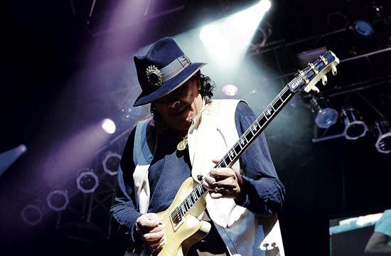 Carlos Santana performs at House of Blues at Mandalay Bay as part of his two-year residency at the venue.