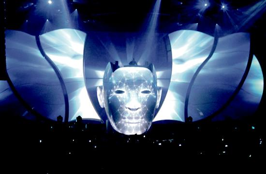Swedish producer/DJ phenomenon Avicii performs at the Santa Monica Civic Auditorium.