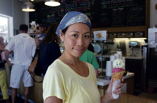 Sweet Rose Creamery's Shiho Yoshikawa brings her years of culinary experience along with her artist's eye to create a boutique ice cream experience at the Santa Monica shop.