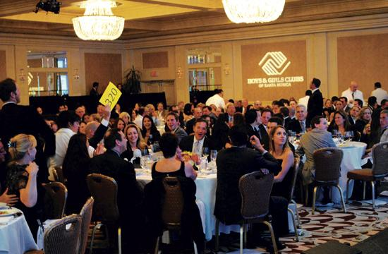 The 36th Annual Auction and Dinner in 2011 for the Boys and Girls Clubs of Santa Monica raised nearly $500