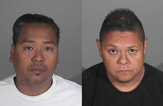 Wilmer Bolosan Cadiz (left) and Jay Jeffrey Nieto were arrested Wednesday