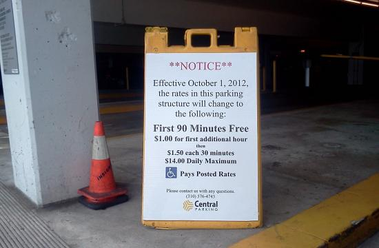 New parking changes come into effect on Monday
