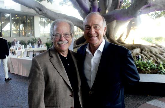Vista Del Mar President and CEO Elias Lefferman (left) and Board Member Lyn Konheim at Saturday's fundraiser in Santa Monica.
