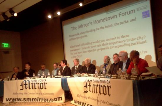 """The 15 candidates running for Santa Monica City Council at Wednesday night's """"Hometown Forum."""""""