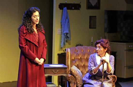 "Gina Manziello (left) and Arva-Rose star in ""Surviving Mama"" through Nov. 18 at the Edgemar Center for the Arts in Santa Monica."