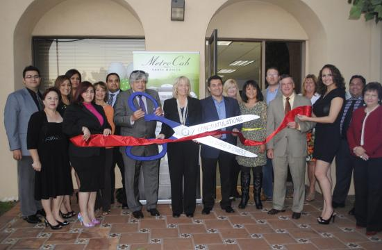 Metro Cab held a ribbon cutting ceremony at its Santa Monica headquarters on Thursday