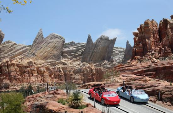 Disney California Adventure guests can enjoy Radiator Springs Racers in Cars Land that is a twisting