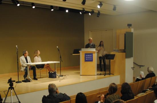 Members of the Human Rights Watch Student Task Force held a candidate forum Thursday night featuring Betsy Butler and Richard Bloom