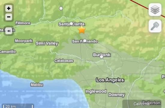 An earthquake with a preliminary magnitude of 3.9 shook the Santa Clarita Valley. It was felt as far away as West Los Angeles and West Hollywood.