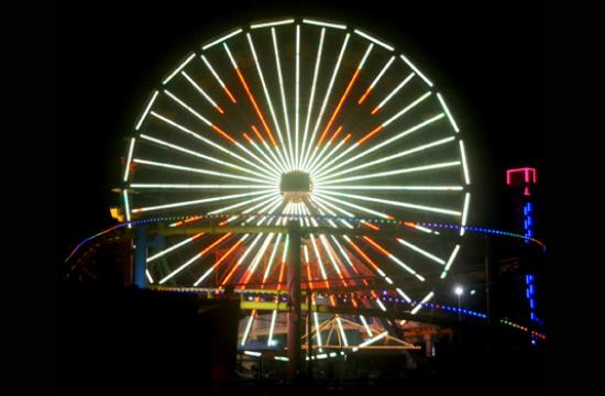 Head on down to Pacific Park at the Santa Monica Pier tonight