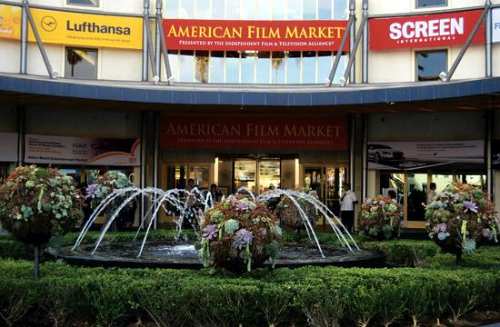 Loews Santa Monica Beach Hotel has been transformed into the headquarters for the American Film Market