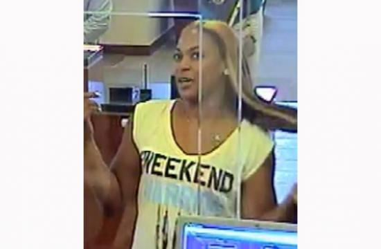 The Santa Monica Police Department is asking for the public's assistance in identifying this female check counterfeiting and forgery suspect.