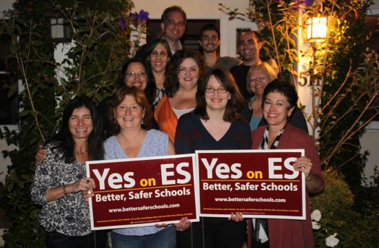 Measure ES supporters celebrate in Santa Monica on Election Night