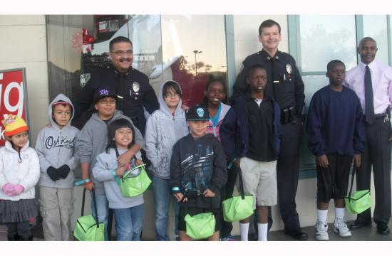 The Salvation Army Santa Monica Sears Holiday Shopping Spree event for 100 underprivileged children took place in Santa Monica on Tuesday.