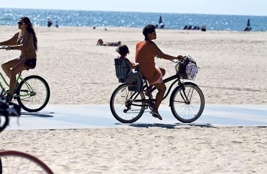 Santa Monica's Beach Bike Path will be improved with new signage and striping.