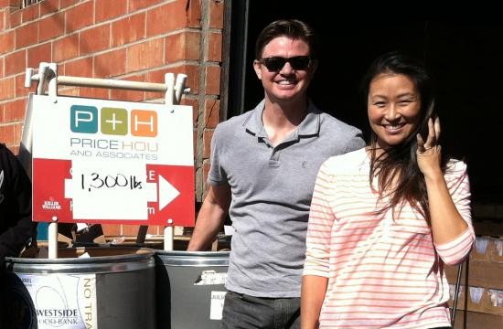Keller Williams realtors Scott Price and Janice Hou orchestrated a Thanksgiving food drive in Santa Monica's Sunset Park neighborhood during the first week of November.