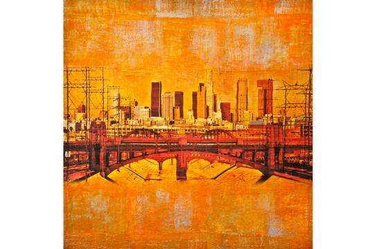 One of the works by Anyes-Galleani called 'Emerging City' that will be on display at Upper West starting Nov. 18.