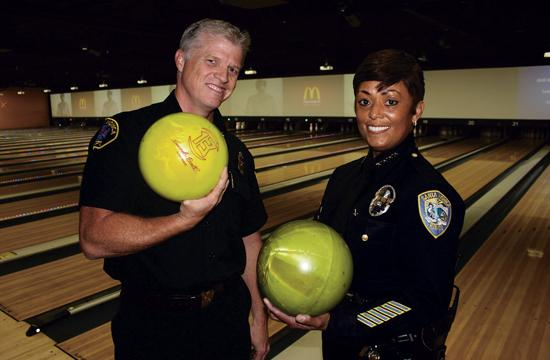 """Fire Chief Scott Ferguson and Police Chief Jacqueline Seabrooks will go head-to-head in the """"Chief's Challenge"""" at SuperBowl-A-Thon17 on Feb. 1"""