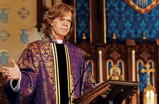 "William H. Macy as Father Brendan in ""The Sessions"