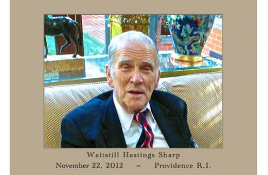 Waitstill Hastings Sharp Jr. passed away aged 81 in Providence