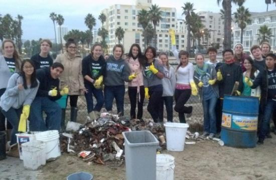 Team Marine cleans up plastic-strewn beach after first series of rains while Heal the Bay Surfrider Club finds alarming spikes in fecal indicator bacteria.