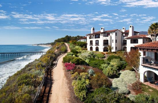 Bacara Resort offers sweeping views of the Pacific Ocean on the coast just north of Santa Barbara.