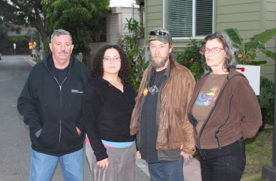 Mountain View Mobile Home Trailer Park residents Ken Ward (from left)