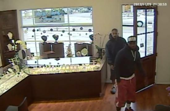 "The two ""subjects of interest"" that Santa Monica Police Department detectives would like to identify that may be linked to the Cabochon Fine Jewelry robbery on Montana Avenue on Nov. 30."