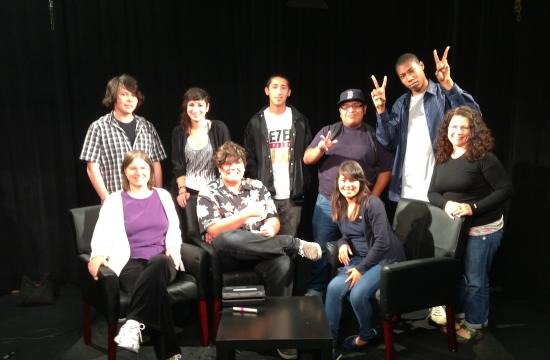 Students filmed and produced their own cable show