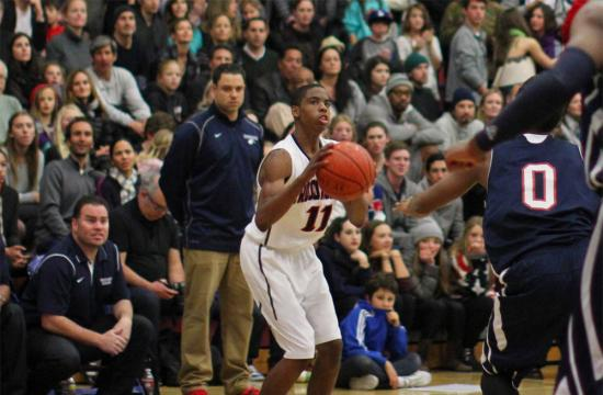 Crossroads forward Damonique Ballou takes a shot in the third quarter against Brentwood at home during the Crossroads Extravaganza Night Friday