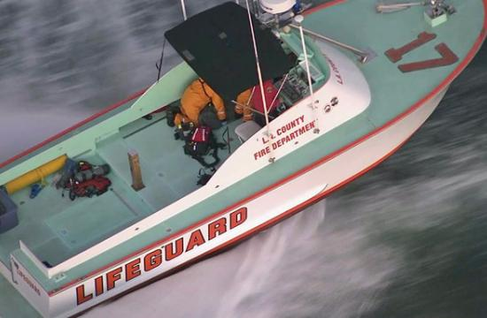 A 45-foot rescue boat rescued a missing diver near the Santa Monica Pier on Tuesday afternoon.