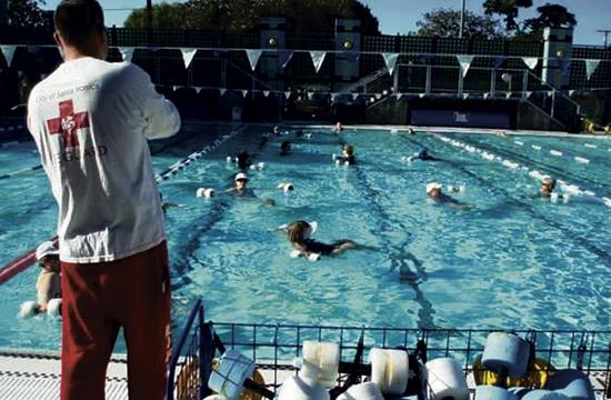 Santa Monica Swim Center at 2225 16th Street is offering free classes in its heated pools.