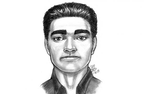 Santa Monica Police Department investigators are requesting the public's assistance in identifying the suspect depicted in the sketch.