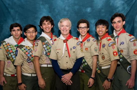 January 2013 Troop 2 Eagle Scout candidates Ari Max Friedman (from left)