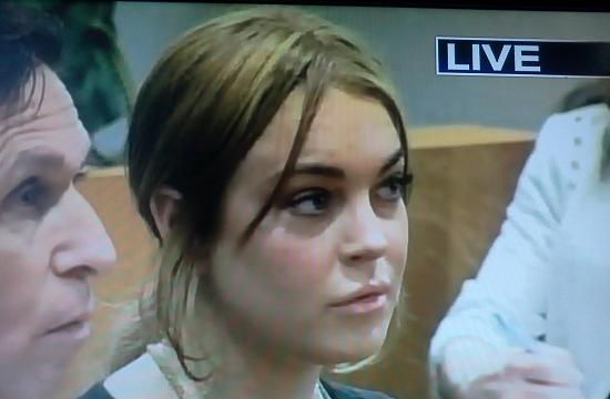 Lindsay Lohan was in court Wednesday