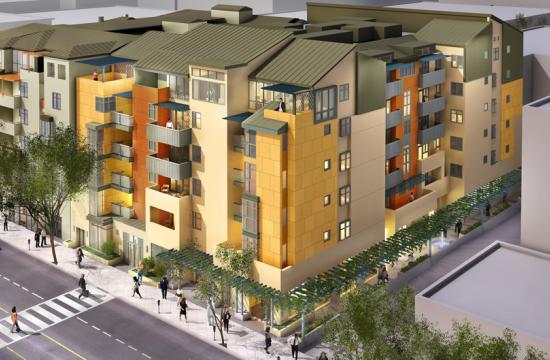 Two new adjacent apartment buildings on 5th Street in downtown Santa Monica are now 30 percent leased.