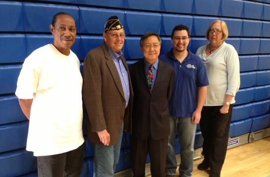 From left: Student veteran Richard Barnes; Dave Borgeson