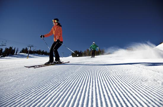 Mammoth Mountain features 150 named trails across 3500 acres of skiable terrain. It takes about five hours to drive to the snow resort from Santa Monica. There are 28 lifts spread across the mountain that have an uphill capacity of 59