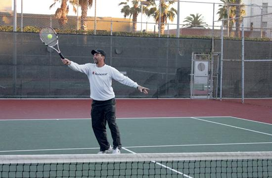 "Santa Monica Tennis Club events director Ray Hugill hopes to fill 24 spots per a session at its upcoming ""Swinging Valentines"" mixed doubles social tournament on Feb. 24."