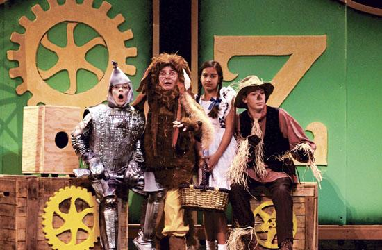 """Lincoln Middle School students present four performances of """"The Wizard of Oz"""" this weekend. From left: Jordan Hadley"""